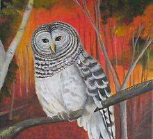 """""""Brown Eyes - Barred Owl"""" by wendywetherbee"""