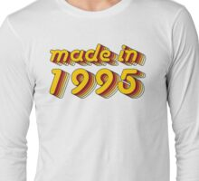 Made in 1995 (Yellow&Red) Long Sleeve T-Shirt