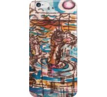 Sea Monster - Hand Painted Monoprint iPhone Case/Skin