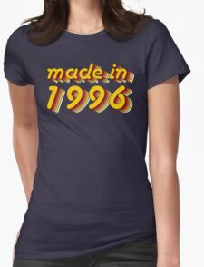 Made in 1996 (Yellow&Red) Womens Fitted T-Shirt