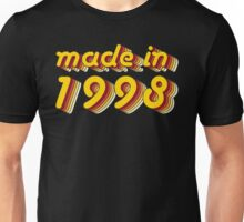 Made in 1998 (Yellow&Red) Unisex T-Shirt