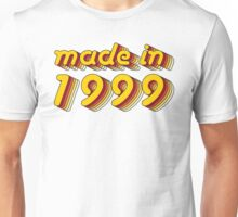 Made in 1999 (Yellow&Red) Unisex T-Shirt