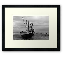 the work is done Framed Print