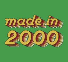 Made in 2000 (Yellow&Red) Kids Tee