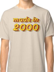 Made in 2000 (Yellow&Red) Classic T-Shirt