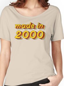 Made in 2000 (Yellow&Red) Women's Relaxed Fit T-Shirt