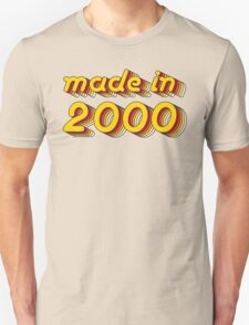 Made in 2000 (Yellow&Red) Unisex T-Shirt