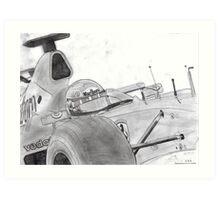 michael schumacher last race brazil 2006 Art Print