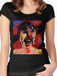 Shower scene from Psycho Women's Fitted Scoop T-Shirt