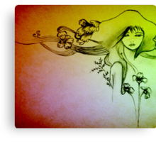 Inspiration - Audrey Kawasaki Canvas Print