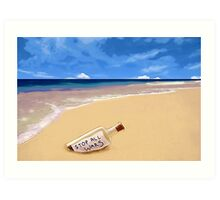 Message in the bottle Art Print