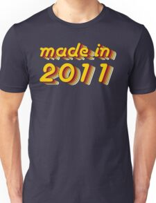 Made in 2011 (Yellow&Red) Unisex T-Shirt