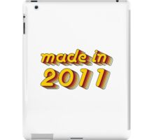 Made in 2011 (Yellow&Red) iPad Case/Skin