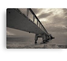 Cloudy Sea Pier Canvas Print