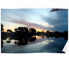 Tropical Sky ~ Lake Reflection Poster