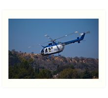 ZS-HUX - Police Helicopter Art Print