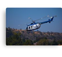 ZS-HUX - Police Helicopter Canvas Print