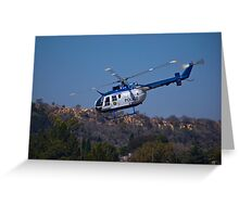 ZS-HUX - Police Helicopter Greeting Card