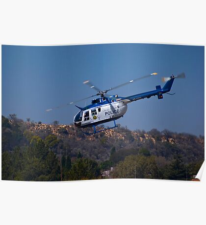ZS-HUX - Police Helicopter Poster