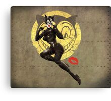 Meow War Pin Up Bombshell Canvas Print
