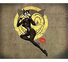 Meow War Pin Up Bombshell Photographic Print