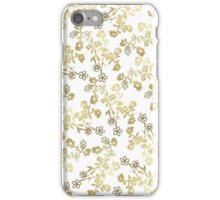 Vintage elegant white blue floral pattern iPhone Case/Skin