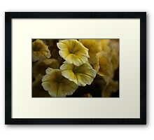 Melody in Yellow Textured Framed Print