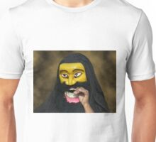 SRI LANKA CULTURAL HUMAN FACE MASK ..VERSION ONE..PILLOW -TOTE BAG-PICTURE ECT.. Unisex T-Shirt