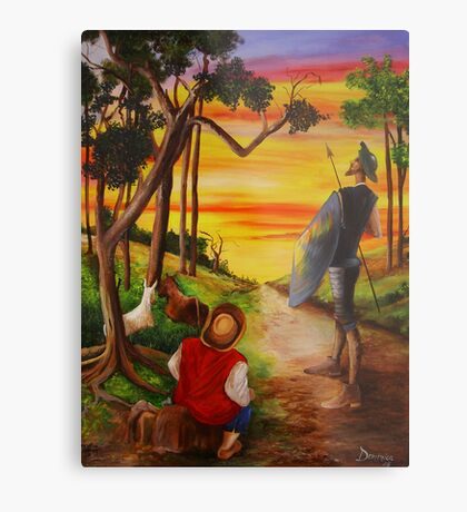 Don Quixote and Sancho Metal Print