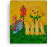 Country Fence and Mailbox Canvas Print