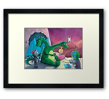 The Knight, The Princess and The Dragon Framed Print