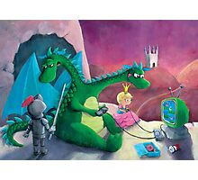 The Knight, The Princess and The Dragon Photographic Print