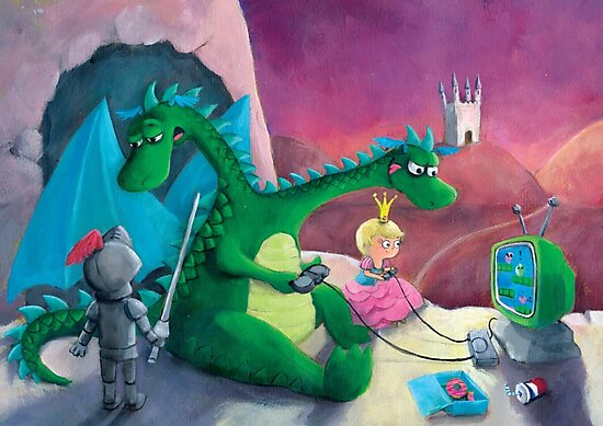 The Knight, The Princess and The Dragon by colonelle