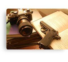 guns, and ideas Canvas Print