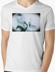 Victoria Film Noir  Mens V-Neck T-Shirt