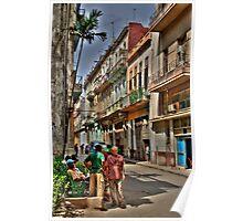Una calle en Cuba Poster