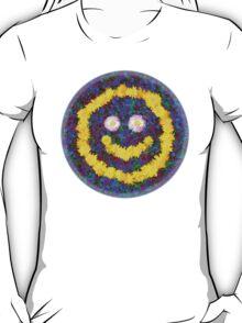 Happy Smiley Face Bright Dandelion Flowers  T-Shirt
