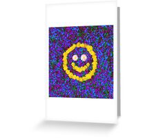 Happy Smiley Face Bright Dandelion Flowers  Greeting Card