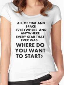 Where Do You Want To Start? Women's Fitted Scoop T-Shirt