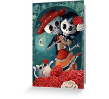 Dia de Los Muertos Couple of Skeleton Lovers Greeting Card