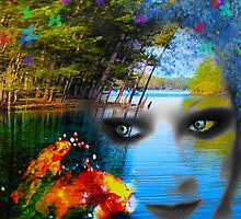 Lady J and Her Colorful Koi by Julie Everhart