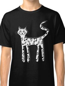 Musical note cat Classic T-Shirt