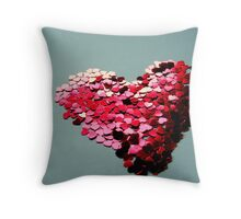A Million Hearts Beat As One Throw Pillow