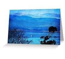 Boat on the Blue Greeting Card