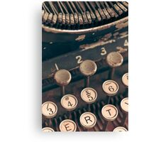Vintage Typewriter Canvas Print