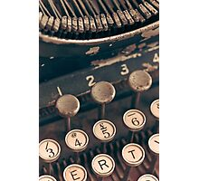 Vintage Typewriter Photographic Print