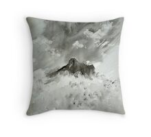 Langdale Pikes painting Throw Pillow
