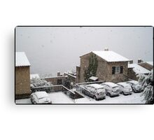 Mantle of snow Canvas Print