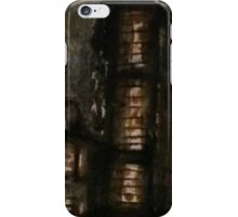 Charcoal, ink, acrylic and shellac ominous buildings painting! iPhone Case/Skin