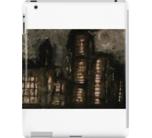Charcoal, ink, acrylic and shellac ominous buildings painting! iPad Case/Skin